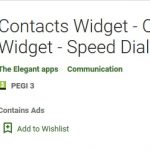 Contacts Widget - Quick Dial Widget - Speed Dial