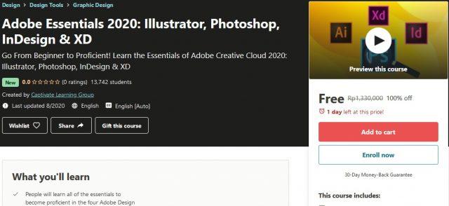 Adobe Essentials 2020 Illustrator, Photoshop, InDesign and XD