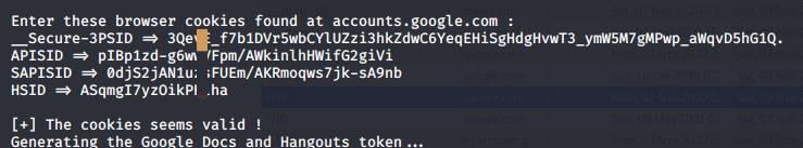 get google cookies using ghunt